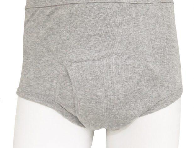 【ウエル】さわやか安心パンツ【ブリーフタイプ】100cc対応/グレーのみ/綿100%/尿漏れパンツ失禁男性用